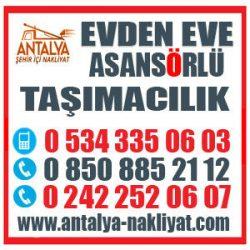 ANTALYA ALTINKUM,ALTINYAKA NAKLİYE FİRMASI 0534 335 06 03 EVDEN