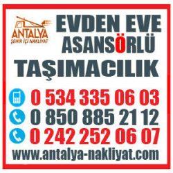 ANTALYA ASANSÖRLÜ NAKLİYE 0534 335 0603