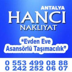 ANTALYA İSTANBUL NAKLİYECİLER 0553 499 08 88