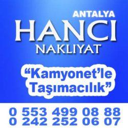 ANTALYA ŞEHİR İÇİ NAKLİYATCILAR 0553 499 08 88